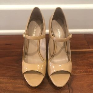 Via Spiga Nude Mary Jane Heels